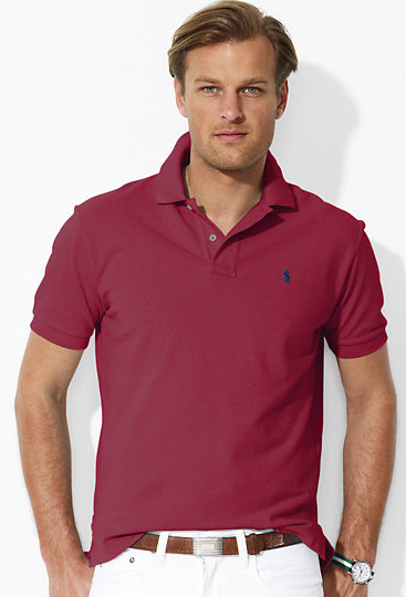 Ralph Lauren Classic Wine Classic-Fit Mesh Polo