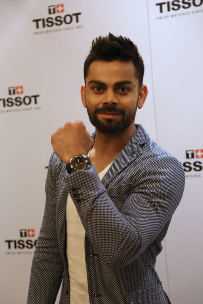 Virat Kohli flaunting the Tissot T-Touch Solar Expert